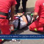 Trujillo: Motociclista impacta contra vehículo en Óvalo Grau