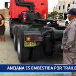Víctor Larco: Anciana es embestida por tráiler