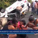 Trujillo: Un muerto y dos heridos tras despiste y volcadura de auto