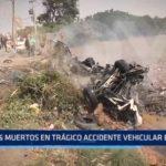 Moche: 16 muertos en trágico accidente vehicular