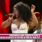 Afrocandela ganó Gaviota de Plata a mejor intérprete en Festival de Viña del Mar 2017