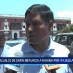 La Libertad: Alcalde de Sarín denuncia a minera por irregularidades