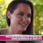 Angelina Jolie habla por primera vez sobre su divorcio de Brad Pitt