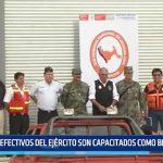 La Libertad: 57 efectivos del Ejército son capacitados como brigadistas