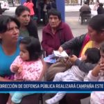 La Libertad: Dirección de Defensa Pública realiza campaña hoy viernes 10