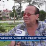 """Paucarcaja: """"Ahora en el APRA hay buitres"""""""