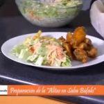 Alitas en salsa Búfalo