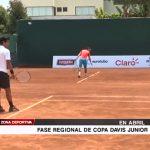Tenis: Fase regional de Copa Davis Junior en abril