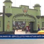 La Libertad: Soldados del ejército listos para actuar ante emergencia