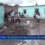 Sausal: 40 casas y dos colegios afectados tras fuertes lluvias