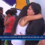 Accidente en Moche: Dolorosa espera por identificación de los cadáveres