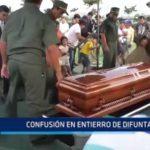 Trujillo: Confusión en entierro de difunta