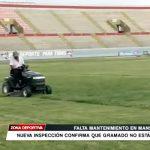 Nueva inspección en Mansiche confirma que gramado no está bien
