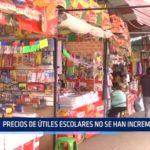 Trujillo: Precios de útiles escolares no se han incrementado