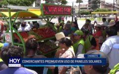 Chimbote: Comerciantes promueven uso de paneles solares
