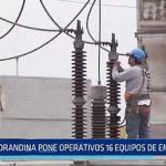 Trujillo: Hidrandina pone operativos 16 equipos de emergencia