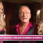 Playboy volverá a publicar desnudos en revista