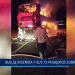 Casma: Bus se incendia y sus 73 pasajeros sobreviven