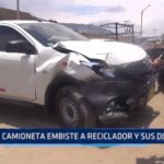 Miramar: Camioneta embiste a reciclador y sus dos hijos