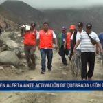 Huanchaco: En alerta ante activación de quebrada El León Dormido