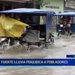 Iquitos: Fuerte lluvia perjudica a pobladores