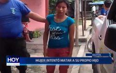 Iquitos: Mujer intentó mata a su propio hijo en un arranque de cólera
