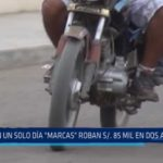 """Trujillo: En un solo día """"marcas"""" roban 85 mil soles en dos atracos"""