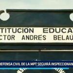MPT: Defensa Civil seguirá inspeccionando centros educativos