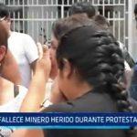 Santiago de Chuco: Fallece minero herido durante protesta en Shorey