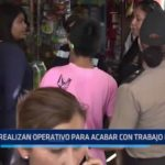 Trujillo: Realizan operativo para acabar con trabajo infantil