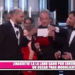 """Anuncian por error a """"La La Land"""" como mejor película en los premios Óscar"""