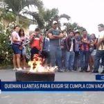 Iquitos: Queman llantas para exigir se cumpla con vacantes en universidad