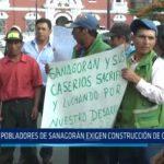 La Libertad: Pobladores de Sanagorán exigen construcción de carretera