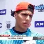 """Alianza Lima: Hansell Riojas espera sumar 3 puntos ante la """"U"""" en Matute"""