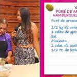 """""""Puré de Arracacha y Hamburguesa de Quinua"""""""