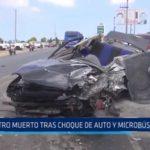 Virú: Otro muerto tras choque de auto y microbús