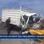 Trujillo: Fatal accidente deja 5 heridos y un muerto