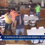 Piura: Se disfraza de obrero para robar 21 mil soles a cambista