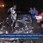 Laredo: 4 personas heridas deja choque entre auto y camión