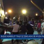 Salaverry: Buque Humboldt trajo 70 toneladas de ayuda humanitaria para Trujillo