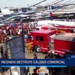 Piura: Incendio destruye galería comercial