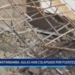 Sartimbamba: Aulas han colapsado debido a fuertes lluvias