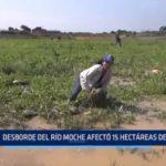 La Libertad: Desborde del río Moche afectó 15 hectáreas de cultivo