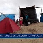 Pacasmayo: Familias de Onteré Giura se trasladan a duna para protegerse de inundaciones