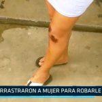 Trujillo: Delincuentes arrastraron a una mujer para robarle el celular
