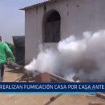 Conache: Realizan fumigación casa por casa ante dengue