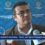"""Gerente regional de La Libertad: """"En el 2017 ejecutaremos más obras"""""""