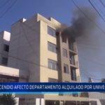 Trujillo: Incendio afectó departamento alquilado por universitarios