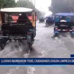 Iquitos: Lluvias inundaron todo y ciudadanos exigen limpieza de buzones