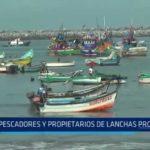 Salaverry: Pescadores y propietarios de lanchas protestan